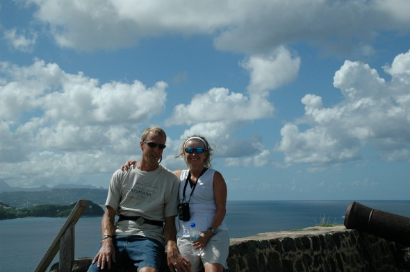 Gary and Denise in St. Lucia